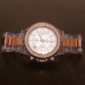 Michael Kors Gold Rhinestone Watch